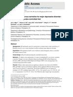 Rhodiola Rosea Versus Sertraline for Major Depressive Disorder