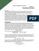 Práctica No. 3. Estudio de Equilibrios Ácido - Base