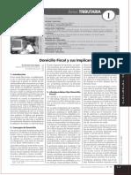 Domicilio Fiscal Implicancias Tributarias