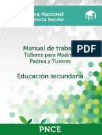 Manual de Trabajo Talleres Para Madres Padres y Tutores Educaci n Secundaria PNCE