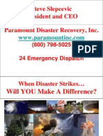 Steve Slepcevic - Paramount Disaster Recovery