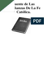 JUSTIFICACIÓN O FUENTES SOBRE LAS ENSEÑANZAS DE LA FE CATÓLICA.docx