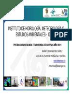 1. IDEAM - PREDICCION SEGUNDA TEMPORADA DE LLUVIAS 2011 (1).pdf