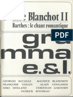Barthes 1976 Le Chant Romantique (5 Gramma 164)