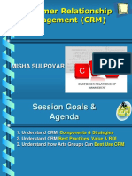 Misha Sulpovar- Customer Relationships Management Strategies