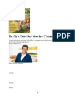 Cura Detox Weekend Dr Oz