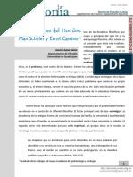 Jesús López Salas - Dos nociones del Hombre. Max Scheler y Ernst Cassirer.pdf