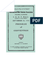 1923 International Bible Students Association Convention