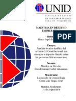 Analisis Tecnico Juridico Del Articulo 31 Constitucional