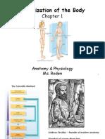 Unit 1 Organization of the Body