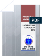 Proposal Kegiatan Ifthar