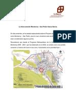 La Interconexión vial Monterrey - San Pedro Garza García