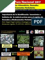 Importancia de La Identificación Taxonómica en el registro de productos naturales
