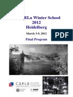 CaRLaWinterSchool2012 Final Abstractbook