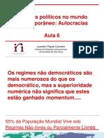 Aula 6 Regimes Políticos No Mundo Contemporâneo
