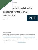 Pronom File Signature Research