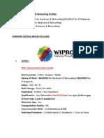 Wipro Hardware & Networking Opening