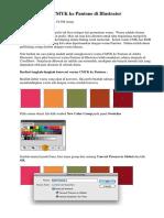 Cara Konversi CMYK Ke Pantone Di Illustrator