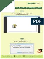 Procedure for Validating Digital Signature