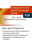 Employment in the Global Knowledge Society