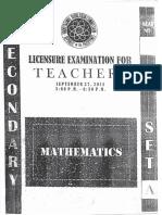 Secondary Sept.2015 LET Math 1 1