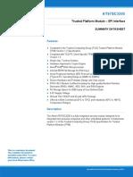Atmel 8884S TPM AT97SC3205 Datasheet Summary