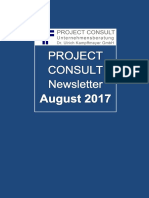 [DE] Project Consult Newsletter August | 2017