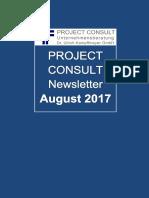 [DE] Project Consult Newsletter August | 2017