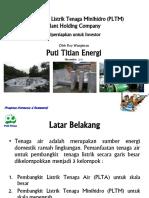 PT. Puti Titian Energi (Holding of Hydropower Company)