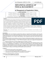 Impact of Talent Management on Organisation Culture