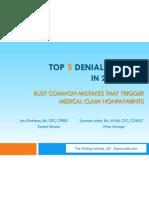 Top 5 Denial Reasons in 25 Minutes