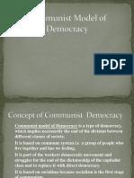 Communist Model of Democracy