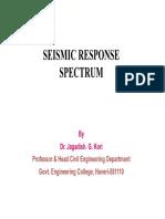 Seismic Response Spectrum