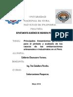 Principales lineamientos generales para el pintado y acabado de los cascos de las embarcaciones artesanales e industriales en el Perú.