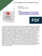 Manuale Di Riabilitazione in Ortopedia