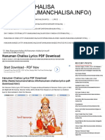 Hanuman Chalisa Lyrics PDF Download _ Hanuman Chalisa