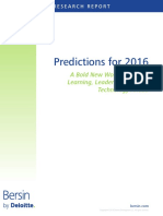 Bersin Predictions 2016