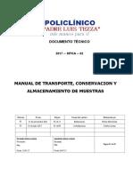 Transporte, Conservación y Almacenamiento de Muestras