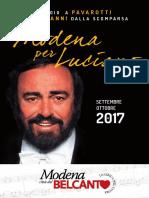 Modena Per Luciano_Programma
