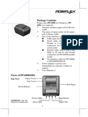 Posiflex PP6900 | Electrical Connector | Usb