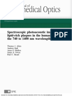 Spectroscopic photoacoustic imaging