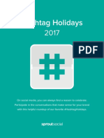 Sprout Social Hashtag Holidays 2017