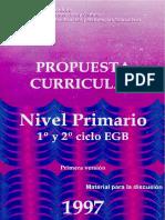 Propuesta Curricular Nivel Primario 1997