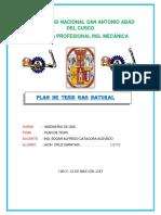 Plan de Tesis Utilizando Gas Natural.