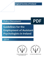 PSI Policy Document - Guidelines for the Employment of Assistant Psychologists