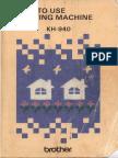 Brother Kh930-Kh940 User Guide