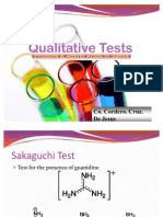 Qualitative Tests