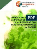 Informe Derechos Humanos en Salud Mental - FEAFES 2016