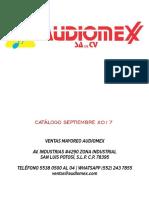 CATALOGO SEPTIEMBRE 2017