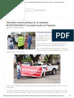 Movilidad Urbana Participó en La Campaña #CORTEMOSESTO en Plaza Acuña de Figueroa - Intendencia de Paysandú